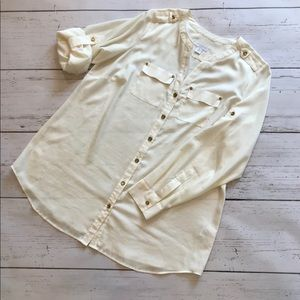 EUC Cream Charter Club Blouse